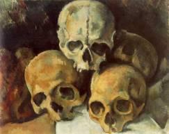 Pyramid of Skulls Paul Cezanne